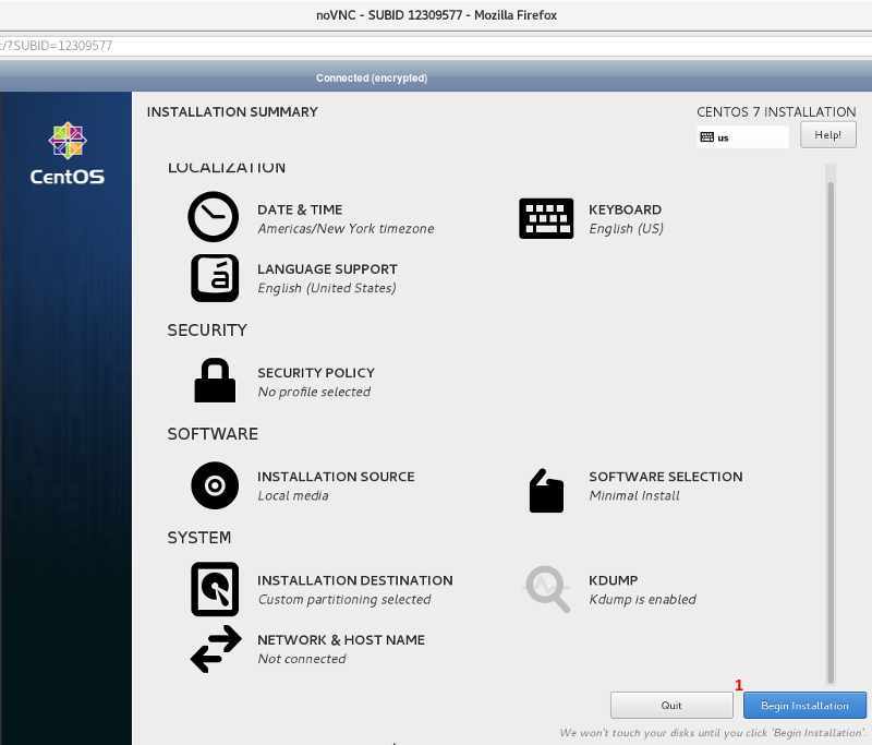 Install and Setup CentOS 7 to Remotely Unlock LVM on LUKS Disk