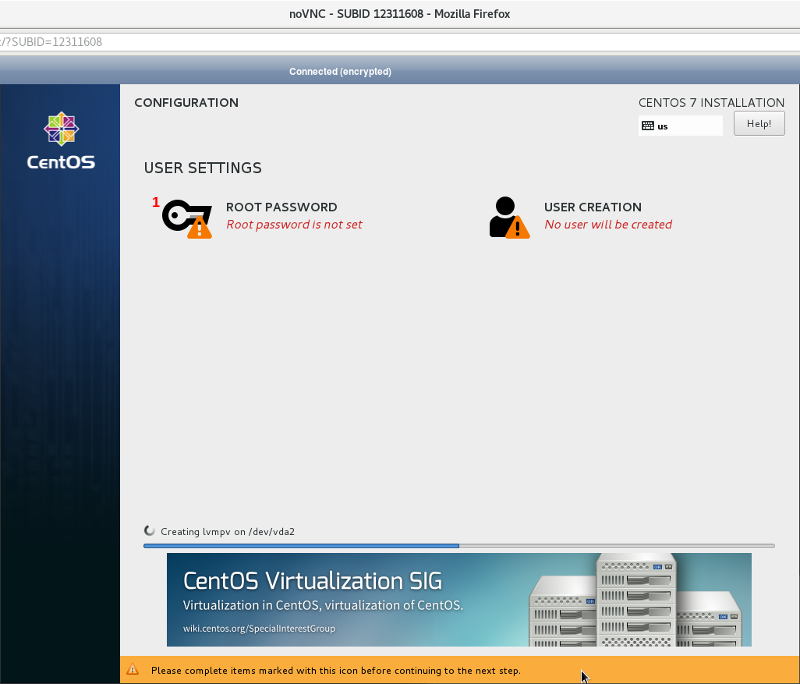 Install and Setup CentOS 7 to Remotely Unlock LVM on LUKS