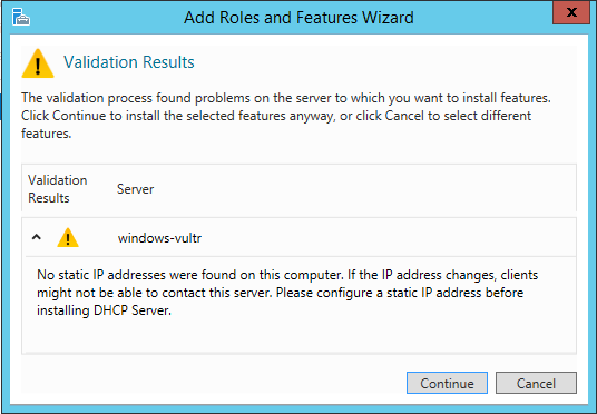 Setup a DNS Server on Windows Server 2012 - Vultr com