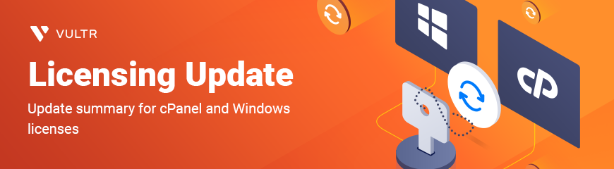 License Update for cPanel and Windows