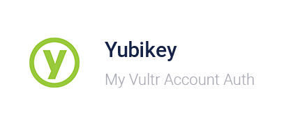 Vultr Control Panel - Youbikey