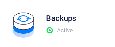Vultr Control Panel - Backup Status