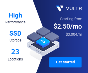 Vultr Starting from $2.50/mo