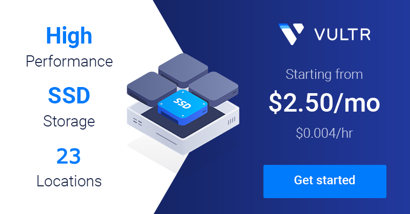 Vultr high performance SSD cloud computing starting at $2.50/mo