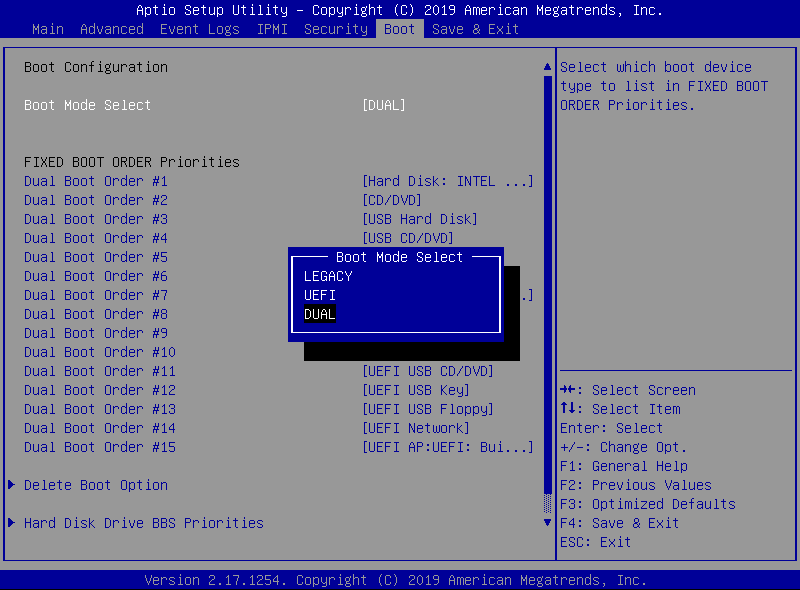 Legacy Boot Mode
