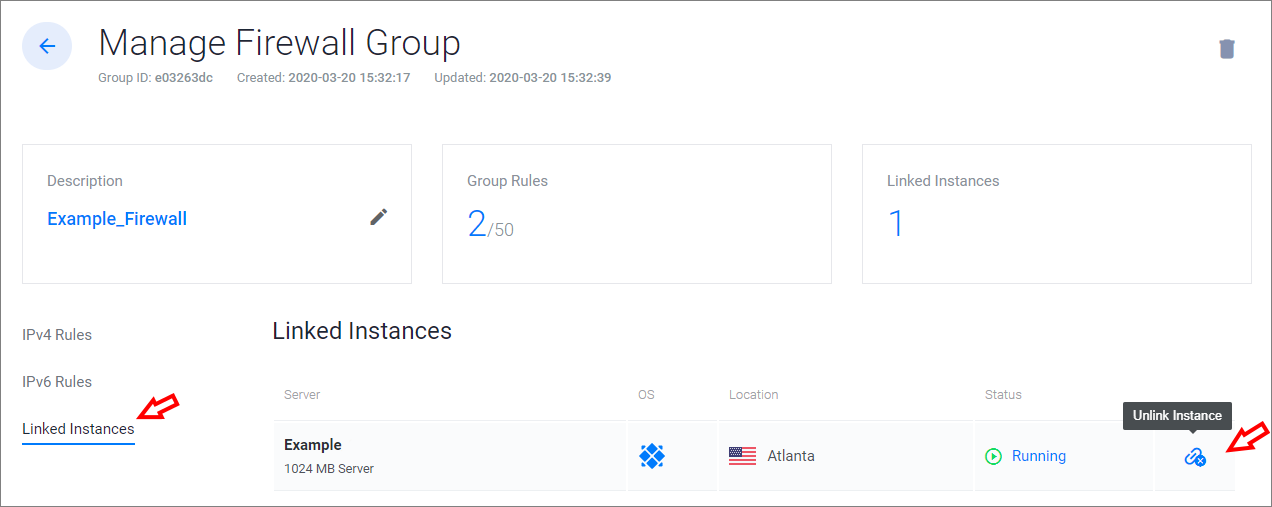 Vultr dashboard example 2