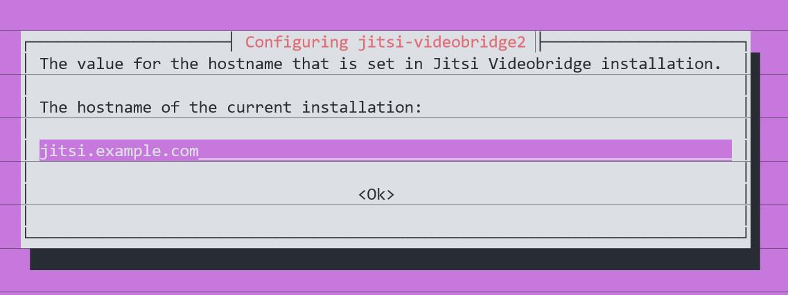Jitsi Hostname Example