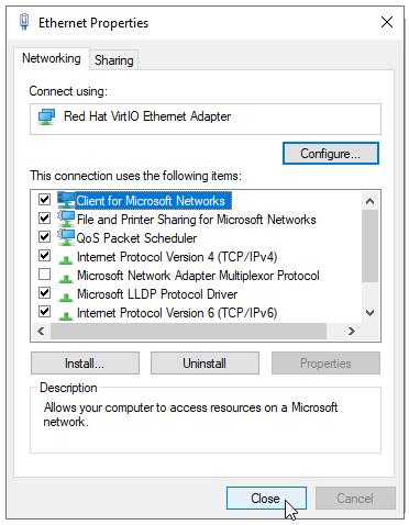 Ethernet Close