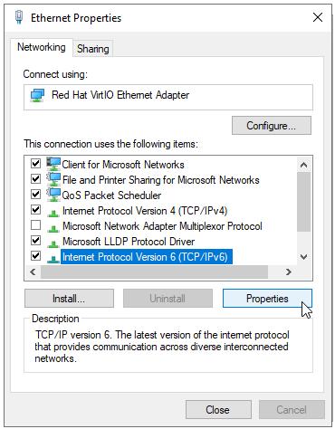 IPv6 Properties