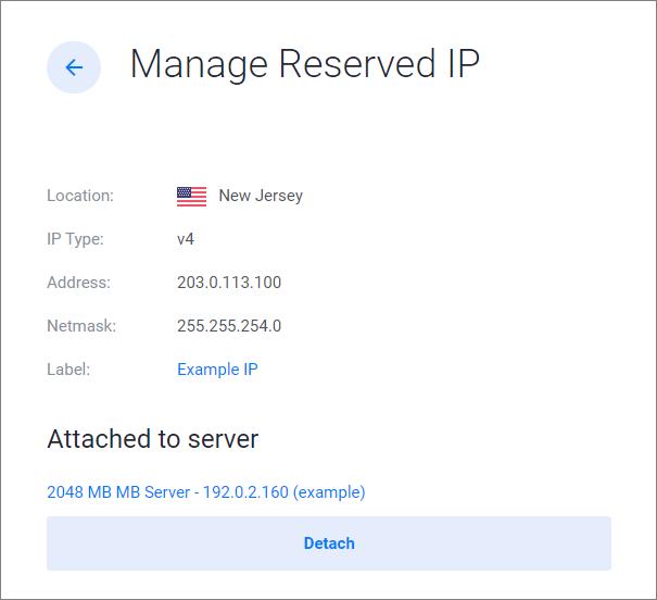 Detach IP