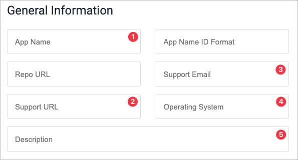 Screenshot of Add App form