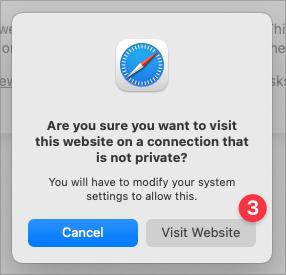 Screenshot of Safari Step 3