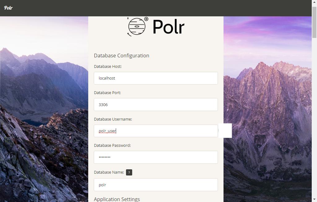 Polr Setup Page