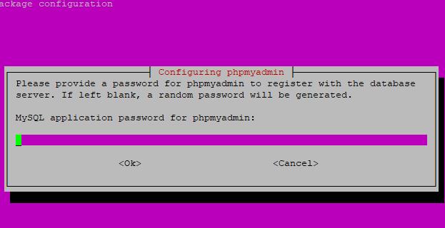 Configure Password for phpMyAdmin