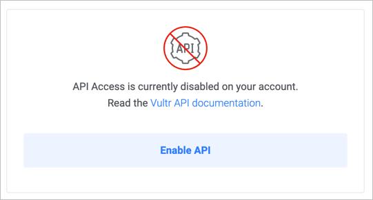 API Diabled