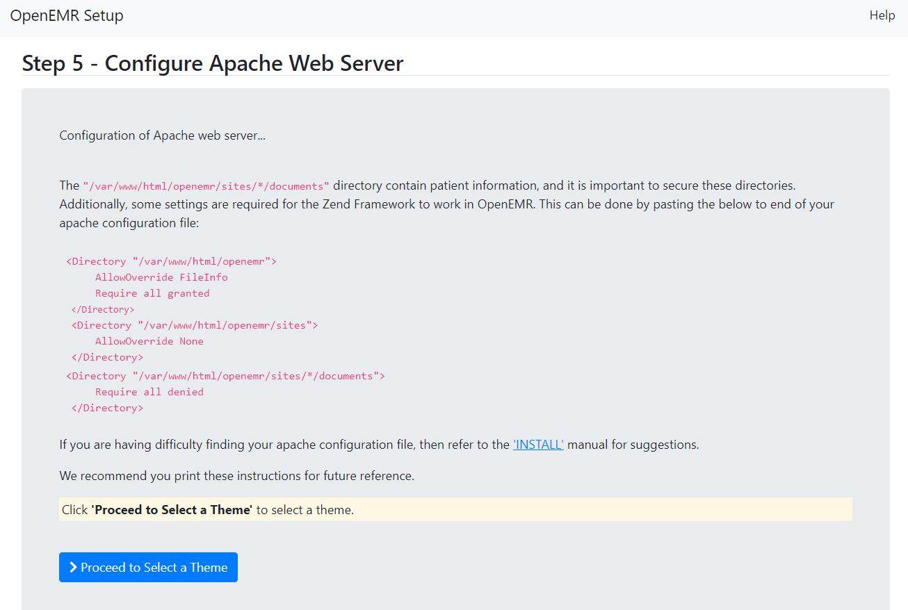 Step 5 - Configure Apache Web Server