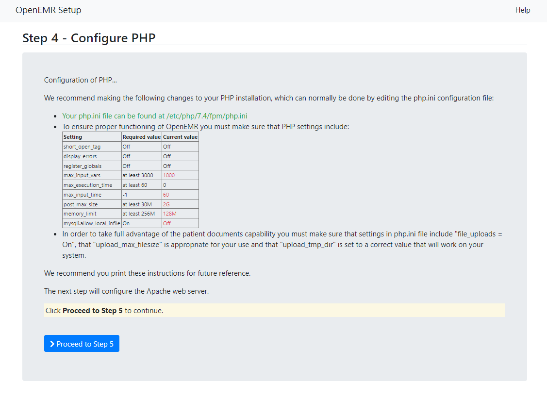 Step 4 - Configure PHP