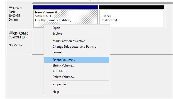 Extend Volume