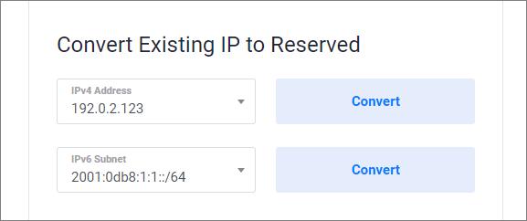 Convert Existing IP